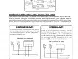 Solid State Timer Wiring Diagram Parts List for Models Do0