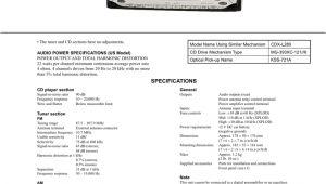 Sony Cdx L410x Wiring Diagram sony Cdx L410x Cd Player Manualzz Com