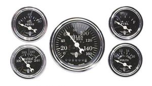 Stewart Warner Gauges Wiring Diagrams Stewart Warner 82229 Wings Five Gauge Set Electric Black Face