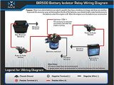 Stinger isolator Wiring Diagram Amazon Com Nvx 500 Amp Mobile Audio Relay Battery isolator Bir500