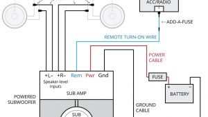 Sub and Amp Wiring Diagram Amplifier Wiring Diagrams How to Add An Amplifier to Your Car Audio