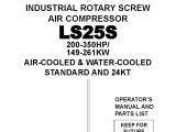 Sullair 185 Wiring Diagram Manual De Operacion Y Mantenimiento Compresor Sullair Ls25 S Gas