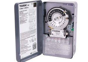 Tork Time Clock Wiring Diagram Nsi Industries tork 1109a Indoor 40 Amp Multi Volt Mechanical Lighting and Appliance Timer 24 Hour Programming Multiple On Off Settings
