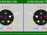 Trailer Wiring Diagram 7 Pin Flat Pin Flat to 6 Pin Round Trailer Adapter Light Wiring Plug Connector