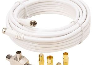 Tv Aerial socket Wiring Diagram Tech Inc Tv Aerial Expansion Pack with 2 Way Splitter Adapters Cable