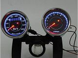 Universal Motorcycle Speedometer Wiring Diagram Amazon Com Iztoss Universal Led Motorcycle Tachometer Odometer