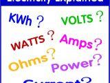 Watt Stopper Power Pack Wiring Diagram Understanding Electricity Volts Amps Watts Kilowatt Hours Kwh
