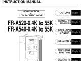Weg Cfw500 Wiring Diagram Mitsubishi A500 Series Vfd Manual Power Inverter Electrical Wiring