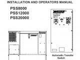 Winco Generator Wiring Diagram 60706 126 Operators Manual Pss8000 Winco Generators