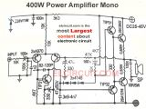 Wiring Diagram Amplifier 400w and 800w Power Amplifier Circuit Electronics Stereo