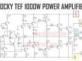 Wiring Diagram Amplifier Power Amplifier 1000w Rocky Tef In 2019 Diy Audio Amplifier Diy
