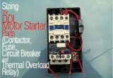 Wiring Diagram for 3 Phase Motor Starter Sizing the Dol Motor Starter Parts Contactor Fuse Circuit Breaker