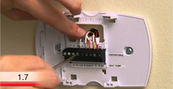 Wiring Diagram for Honeywell thermostat Th3110d1008 Honeywell Rth6580wf Wi Fi Tstat Extra Wire Installation Video Youtube