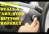 Wiring Diagram for Push button Start the Right Way to Install A Start Stop button Youtube