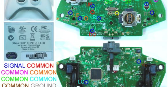 Xbox 360 Wireless Controller Wiring Diagram Xbox Wiring Diagrams Wiring Diagram